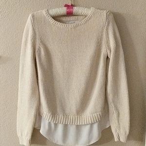 Cream colored Loft Sweater